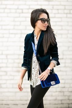 Velvet Love :: Lush blazer & Boy bag : Wendy's Lookbook