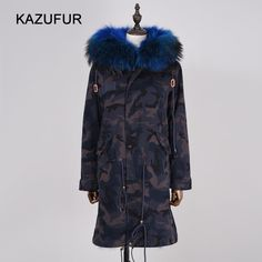 Check out this product on Alibaba.com APP Camouflage fur parka for women winter coat long real fox fur parka with big raccoon fur collar hood