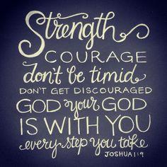 Joshua 1:9 // lettering artwork by andrearhowey, via Flickr
