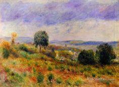 Pierre Auguste Renoir Landscape: Auvers-sur-oise oil painting reproductions for sale