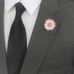Mens Lapel Pin Gentlemans Gift Mens Fashion Gift Pink Lapel...