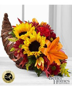 FTD The FTD® Fall Harvest? Cornucopia by Better Homes and Gardens® from FTD | BHG.com Shop