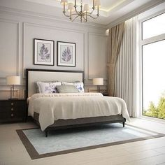 Master Bedroom Design Idea Picture Luxury 57 New Trend and Modern Bedroom Design Ideas for 2020 Part Luxury Bedroom Design, Master Bedroom Design, Home Bedroom, Bedroom Wall, Interior Design, Wainscoting Bedroom, Bedroom Ideas, Luxury Master Bedroom, Master Bedrooms