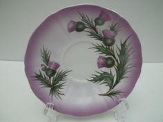 Vintage Adderley Thistle Lilac Purple Teacup Tea Cup Saucer Excellent | eBay
