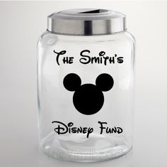 Disney Fund Jar Decal - FREE PERSONALIZATION