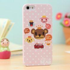 Wingcle Bear iphone 5 case Head Pink   http://www.case2case.net/wingcle-bear-iphone-5-case-head-pink.html