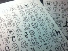 creative illustrated type