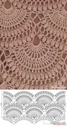 Crochet Diagram, Crochet Motif, Crochet Lace, Free Crochet, Crochet Stitches Patterns, Thread Crochet, Stitch Patterns, Knitting Patterns, Square Patterns