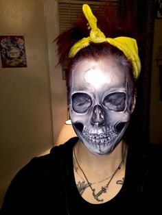 Classic skull make-up by Stacie Broman!