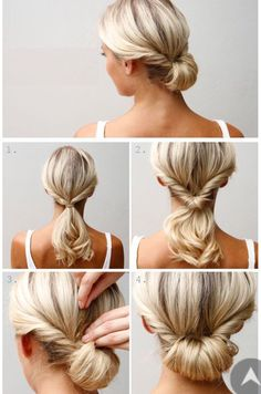 #coiffure #blondhair #chignon