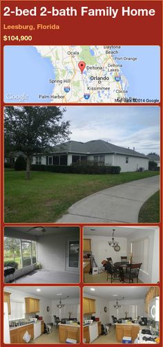 2-bed 2-bath Family Home in Leesburg, Florida ►$104,900 #PropertyForSale #RealEstate #Florida http://florida-magic.com/properties/79079-family-home-for-sale-in-leesburg-florida-with-2-bedroom-2-bathroom