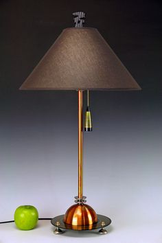 Copper and Peridot table lamp.. 247. Steam von highdesertdreams