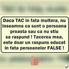 Tăcerea mea - Viral Pe Internet Star Of The Week, Strong Words, God Prayer, True Words, Let Me Down, Motto, Texts, Psychology, Life Quotes