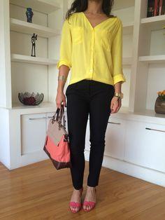 #execudivas #ootd #style #yellow #work #trabalho #zara #red #shoes #brasil #vamolindas #pink #rj #black #job #fashion