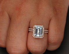 Flawless Aquamarine Engagement Ring Diamond by Twoperidotbirds