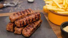 Čevapčiči   Recepty.sk Romanian Desserts, Romanian Food, Eastern European Recipes, Foodie Travel, Sausage, Yummy Food, Traditional, Dishes, Meat
