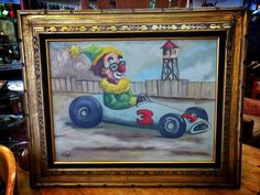 """32"""" x 27"""" Framed Oil on Canvas Signed I.F. Pope $65 #mercantile_m #andersonville #edgewater"""