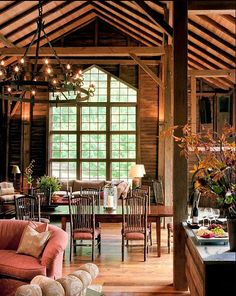Barn turned into a Guest House (2) dining room