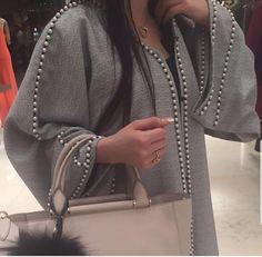 Pearl embellishment on seams, lines