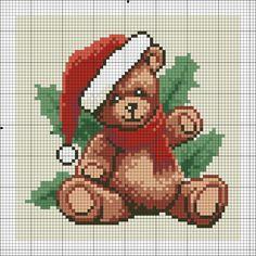 Cross Stitch *<3* Christmas bear