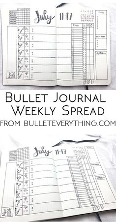 Weekly Spread from Bullet Everything. Find measurement templates, PDF printables, video and more at bulleteverything.com/! #bulletjournal #bujo bulleteverything.stfi.re