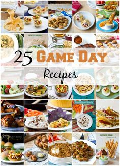 25 Game Day Recipes! Your Super Bowl party will be a touchdown with these amazing party recipes. Fun game day recipes your guests will love! Quick easy