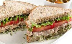 Sanduíche integral com atum e cream cheese - Receitas - Receitas GNT