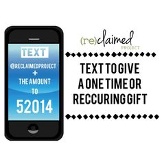 Giving made easy! Text to give a one time or recurring donation to help us continue the work in Lesotho.