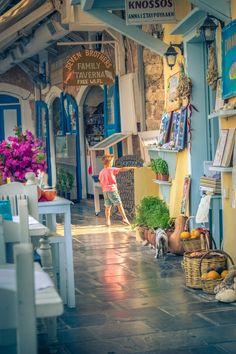 .~Shops in Rethymno, Crete, Greece~.                                                                                                                                                     More