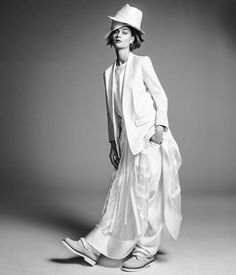 Bo Don Wears All White for Vogue Brazil by Jacques Dequeker
