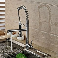 Senlesen Chrome Pull Out Down Spray Deck Mount Kitchen Torneira Cozinha Tap Mixer Cock Faucet with Hot and Cold Water - - Amazon.com