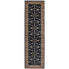 """Rizzy Home Chateau black border Runner Area Rug (2'3 x 7'7) (CH4219 Black 2'3"""" X 7'7"""" Power-Loomed Border Rugs), Size 2'3"""" x 7'7"""""""