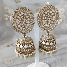 Jhumki Earrings, Dangle Earrings, Crochet Earrings, Silver Paint, Dangles, Gold, Inspiration, Jewelry, Biblical Inspiration