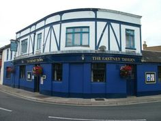 Eastney Tavern. The rear of this Victorian pub is covered in shells.