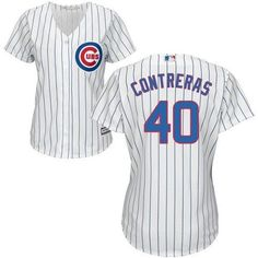 910a4c779a4 Chicago Cubs Women s Wilson Contreras Majestic home white Cool Base jersey