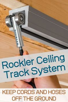 Non-Locking Trolleys for Rockler Ceiling Track System - Accepts a variety of hooks that keep cords and hoses off the ground—rolls smoothly along our Ceiling Track.
