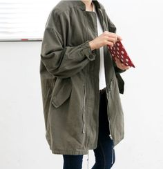 Loose parka jacket