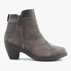 Women's Ankle Boots Office in Suede Leather Smokey Grey – Comfy Moda 7 Prince, Grey Office, Office Outfits Women, Shoe Box, Looking For Women, Winter Boots, Suede Leather, Ankle Boots, Comfy
