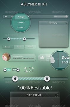 Glass UI - User Interfaces Web Elements