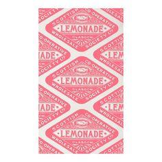 Victorian lemonade tea towel from Howkapow