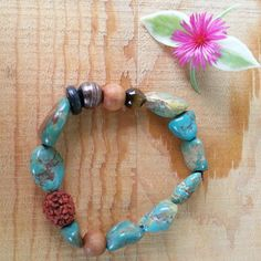 Turquoise Bracelet by Love is a Seed by LoveisaSeed on Etsy, $18.00