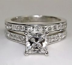 Engagement Ring Princess cut 3.75 Carat Lab by JonnyCbrothers, $299.99