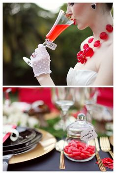 Red Wedding Inspiration | Bridal Style and accents
