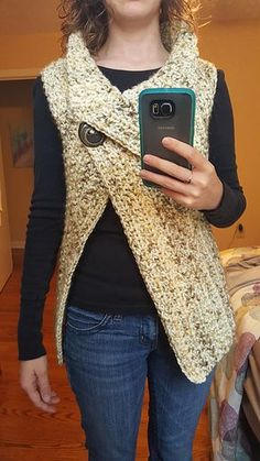 Crochet Poncho Peek-a-Boo Button Wrap: FREE crochet pattern by Nerissa Muijs - Thanks for checking out my Peek-a-Boo Button Wrap design, I hope you love making it as much as I loved designing it! Gilet Crochet, Crochet Jacket, Crochet Cardigan, Knit Or Crochet, Crochet Scarves, Crochet Shawl, Crochet Clothes, Crochet Stitches, Crochet Vests