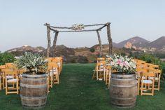 Rustic, romantic ceremony site