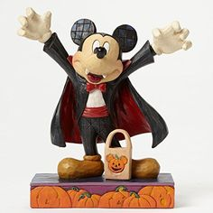 You are buying the Enesco Jim Shore Disney Traditions Halloween Vampire Mickey Mouse. This item would make a fantastic present for any Disney lovers or it would make an excellent Halloween decoration. Mickey Mouse Halloween, Disney Halloween, Disney Mickey Mouse, Halloween Vampire, Scary Halloween, Minnie Mouse, Halloween Season, Halloween Ideas, Happy Halloween