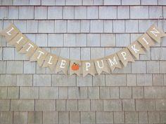 Little Pumpkin Banner Little Pumpkin Baby by IchabodsImagination