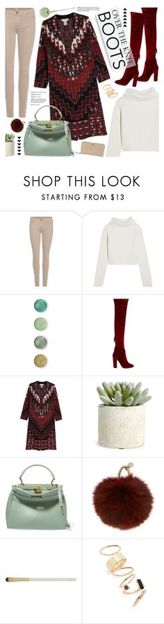 """""""fall footwear: over-the-knee boots"""" by jesuisunlapin ❤ liked on Polyvore featuring 7 For All Mankind, Haider Ackermann, Terre Mère, Aquazzura, MARA, Allstate Floral, Fendi, Yves Salomon, Eve Lom and BP."""