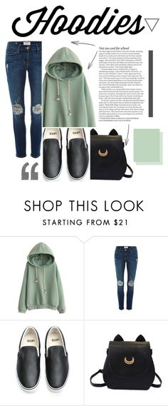 """""""Basic Hoodies"""" by francescapellegrini ❤ liked on Polyvore featuring ASOS, Frame Denim, Vans, women's clothing, women's fashion, women, female, woman, misses and juniors"""