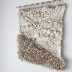 the softening of sound large handwoven wall hanging